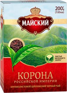 МАЙСКИЙ Чай черный крупнолистовой Корона Российской империи 200г