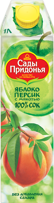 Сады Придонья Сок яблоко-персик 1л
