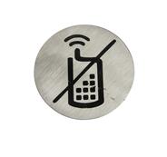 Metal Craft Табличка информационная Отключить мобильный телефон