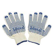 biloxxi Перчатки хозяйственные хлопчатобумажные с ПВХ-покрытием 6 пар
