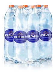 ЭДЕЛЬВЕЙС Вода минеральная столовая/питьевая газированная 1.5л, 6 шт.