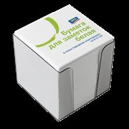 Аro Блок бумажный 9х9х9 смбелый в пластиковой подставке