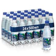 BonAqua Вода минеральная столовая/питьевая газированная 0.5л, 24 шт.