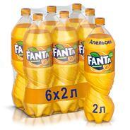 Fanta Напиток газированный безалкогольный 2л х 6шт