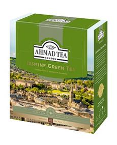 Чай AHMAD TEA зеленый байховый мелкий с жасмином Jasmine Green Tea 100 пак.