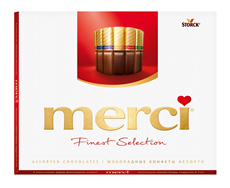 Конфеты MERCI шоколадные ассорти, 250г