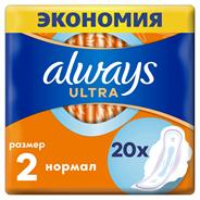 Прокладки ALWAYS Ultra Nor Duo, 2х10шт
