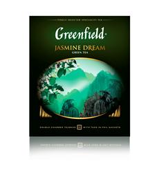 Greenfield Чай зеленый Jasmine Dream  в саше 100 пак.
