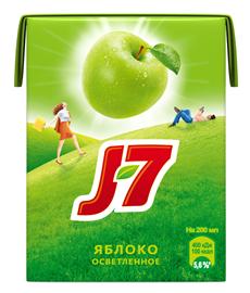 Сок J-7 зеленое яблоко, 6х0,2л