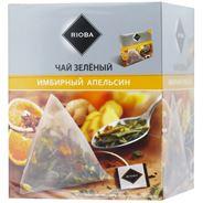 RIOBA Чай зеленый байховый Имбирный апельсин 20*2г