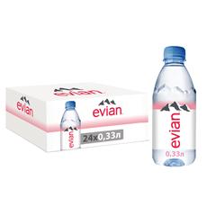 Evian Вода минеральная столовая/питьевая негазированная 0.33л, 24 шт.