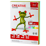 Цветная бумага CREATIVE Медиум, 100 листов
