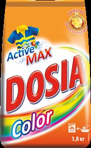 DOSIA Порошок стиральный для машинной и ручной стирки цветного белья Active Color 1,8кг