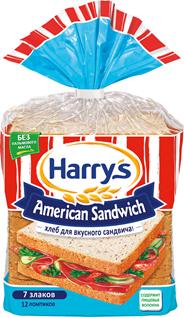 Harry's American Sandwich Хлеб 7 злаков Сандвичный 470г