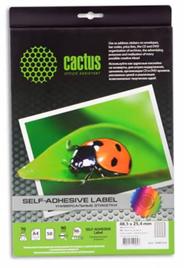 Универсальные этикетки CACTUS А4 48.5X25.4 50