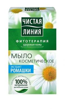 Чистая Линия Мыло косметическое кусковое с экстрактом ромашки 80г