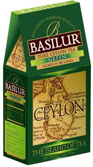 BASILUR Чай зеленый листовой Остров цейлон 100г