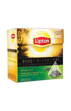 Lipton Чай зеленый байховыйGreen Gunpowder 20 пирамидок