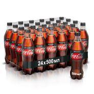 Coca-Cola Zero Напиток газированный безалкогольный без калорий 0.5л х 24 шт