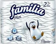 Туалетная бумага FAMILIA PLUS 12 рулонов
