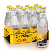Schweppes Напиток газированный безалкогольный Тоник Индиан 0,25л, 12 шт.