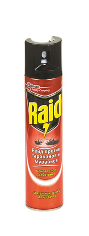 Raid  Средство от тараканов и муравьев аэрозоль 300 мл