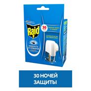 Raid Комплект: электрофумигатор + жидкость от комаров 30 ночей