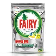 Fairy Platinum Капсулы для посудомоечных машин Все в 1 50 шт