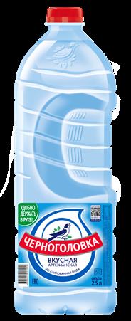 Черноголовка Вода столовая/питьевая негазированная 2,5л