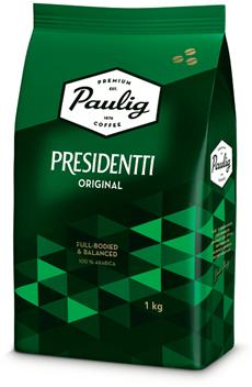 Кофе PAULIG в зернах натуральный жареный Presidentti Original, 1кг