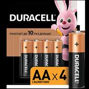 Duracell Батарейки Basic  AA 4 шт