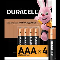 Duracell  Батарейки BASIC AAA 4  шт