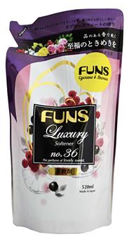 FUNS Кондиционер парфюмированный для белья с ароматом грейпфрута и черной смородины 520мл