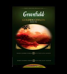 Чай GREENFIELD черный Golden Ceylon в саше 100 пак.