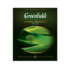 Чай GREENFIELD зеленый Flying Dragon в саше 100 пак.