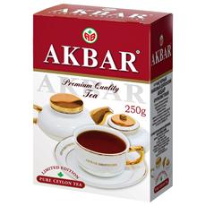AKBAR Чай черный байховый цейлонский крупнолистовой 250г