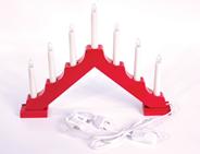 Светильник-горка Рождественские Свечи 7 электрических свечей