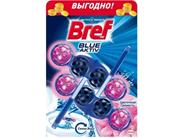 Bref Средство для чистки унитаза Blue aktiv Цветочная свежесть 2х50 г