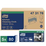 Tork Premium Материал нетканый листовой (W4) для кухни однослойный повышенной прочности 80 листов