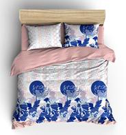 Комплект постельного белья Евро Метаморфозы Синие цветы