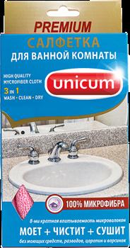 Unicum Салфетка для уборки ванной комнаты микрофибра