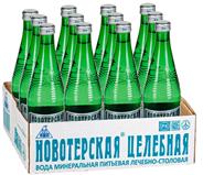 Новотерская Вода минеральная лечебно-столовая газированная 0.5л, 12 шт.