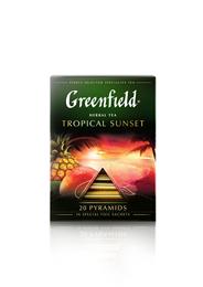 Greenfield Чай черный Tropical Sunset в саше 20 пирамидок