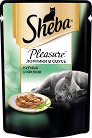 Sheba Влажный корм для кошек c курицей и кроликом Pleasure 85г х 24шт.