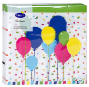 Duni Салфетки бумажные Balloons And Confet трехслойные 33 х 33 см 20 шт