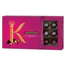 А.КОРКУНОВ Конфеты шоколадные ассорти из темного и молочного шоколада 192г