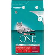 Purina ONE Корм сухой для стерилизованных кошек и котов с говядиной и пшеницей 3 кг