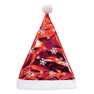 Колпак Санта-клауса блестящий красный