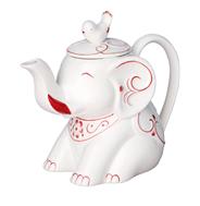 HILLTOP Чай черный Земляника со сливками в фарфоровом заварочном чайнике Classic 80 г