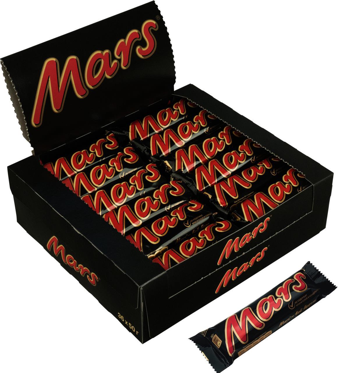 Батончик MARS шоколадный, 50г